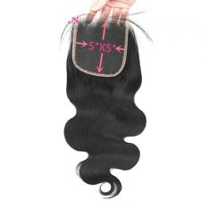 Free Part 5*5 Lace Closure 100 Virgin Remy Hair Natural color ST BW DW Available