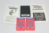Football 1982 Intellivision White Label  Cart w/ Manual Playbook and 2 Overlays