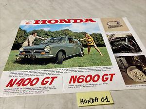 Honda N400GT N600GT N360AT N600AT prospectus brochure de vente catalogue