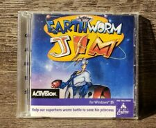 Earthworm Jim (Pc, 1995) Microsoft Windows 95 Cib Complete Tested! Free Shipping