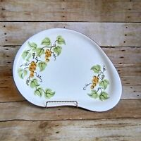 "Stangl Golden Grape Oval Kidney Shape Serving Platter 13.5"" Vintage 1960's"