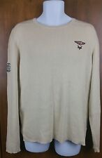 Harley Davidson Ivory Ribbed Knit Cotton Sweater Womens Size 2W