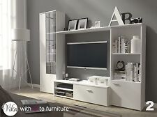 Living Room TV Wall Unit HUGO 220cm wide EXPRESS & FREE DELIVERY