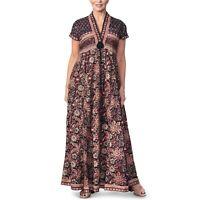 East - ANOKHI BAGRU COTTON FLORAL PRINT MAXI DRESS (UK 10 -> 20) [74274]