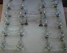 """12 Vintage Style Clear Glass 4"""" Handles Cabinet Drawer Pulls w/Hardware"""