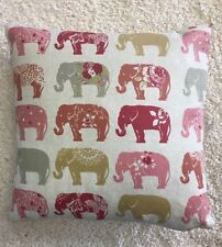 Summer Print Elephant Pinks 100% Cotton Cushion Cover Pillow Case 43cm UK MADE