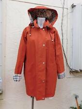 BURBERRY LONDON TERRACOTA COLOR BRIT HOODED TRENCHCOAT W/WOOL ZIP UP LINING 10