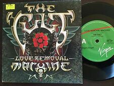 "THE CULT - - LOVE REMOVAL MACHINE - - Rare 1987 Australian VIRGIN 7"" P/S"