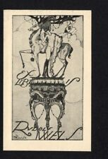 09)Nr.171- EXLIBRIS-Dagobert Peche (1887-1923) Mitarbeiter der Wiener Werkstätte
