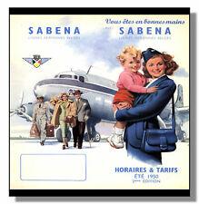 More details for sabena douglas dc6 framed repro poster 1950