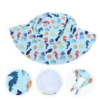 Adjustable Toddlers Summer Bucket Hat Fisherman Sun Hat with Chin Strap
