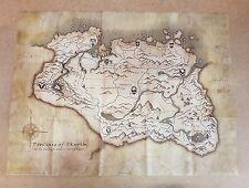 Il VECCHIO PERGAMENE V SKYRIM Canvas Mappa