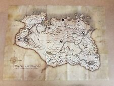 The Elder Scrolls V Skyrim Canvas Map