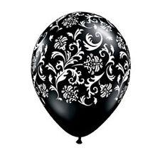 Paris Damask Wedding Engagement Decorations Party Supplies Black Balloons Pk 10