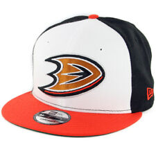 New Era 950 Anaheim Mighty Ducks Snapback Hat (Black White Orange) Men s 80b368f2a66a