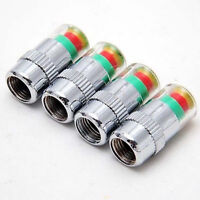 4PCS Car Auto Tire Pressure Monitor Valve Stem Caps Sensor Indicator Alert Eyes