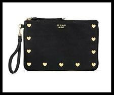 NEW VICTORIA'S SECRET HEART STUD NIGHT OUT WRISLET BAG FITS CARD CASE PHONE SEXY