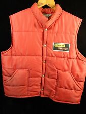 Vintage Men's Swingster Red Puffy Vest Size L; Stanley Proto Patch; Made in USA