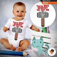 You're not worth to get me Thor Marvel BABYGROW BABY GROW  ALL SIZES  !