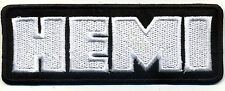 Hot Rod Patch Hemi badge Drag Race Muscle Car Mopar Dodge Plymouth black