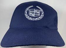 Cadillac Cap Navy Andrews Hat Driving Car General Motors Auto Luxury Crest