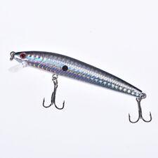 1pc 9.5cm//8.5g minnow hard fishing lure with hooks wobble floating crank bait Lo