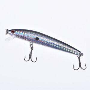 1pc 9.5 cm/8.5g leurre de pêche dur vairon avec crochets wobble flottant maniW1F