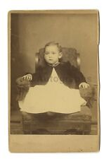 19th Century Child - Cabinet Card Photograph - Chair, Necklace