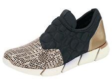 Andrea Conti Sneaker Schuh 36 Gold Schwarz Turnschuh Modern Pailletten Nice NEU