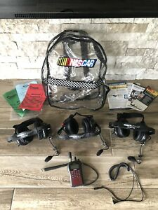 Uniden SC230 NASCAR Scanner with Racing TrackScan Headsets And Extras WORKS!