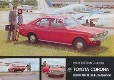 Toyota Corona Mark II 2000 Saloon 1972-73 original UK Sales Brochure