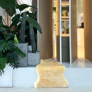 Yellow Genuine New Zealand Sheepskin Rug Bedroom Premium Soft Living Room Rugs