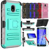For Samsung Galaxy J7 Crown/Refine/Star/V 2018 Armor Case Cover Screen Protector