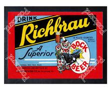 Historic Richbrau Bock Beer, Home Brewing Co Beer Ad Postcard