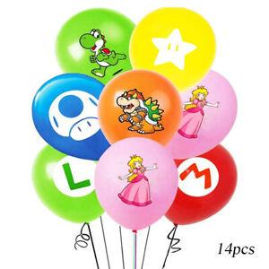Super Mario Princess Happy Birthday Kids Helium Balloons Baby Party Decorations