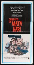 CHILDREN OF MATA HARI Klaus Kinski ORIGINAL 1970 3 SHEET Movie Poster