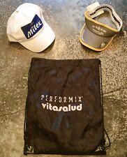 Santo Domingo Itu Olympic Tri Visor + Milex Hat + Transition Bag New Nwt