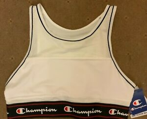 NEW CHAMPION white SPORTS BRA XL  style Y09LM