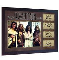 Led Zeppelin signed photo autographed Music Jones Page Plant Bonham FRAMED