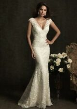Lace Cap Sleeve Plus Size Unbranded Wedding Dresses