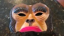Vintage Planet Of The Apes Gorilla Chimp Halloween Costume Half Mask