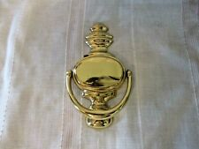 "Polished Solid Brass Door Knocker Engrave-able 7 1/4"" x 4 1/4"" w/Hardware"