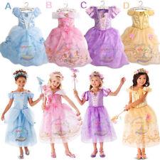 Disney Princess Dress Belle & Cinderella Girls Fancy Dress Kids Cosplay Costume