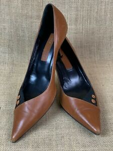 Marc Jacobs Two Tone Leather Open Toe Pumps * Size 10M