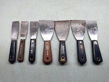 Putty Knife Spackle Scraper Drywall Tool Lot Metal Plastic RED DEVIL HYDE+