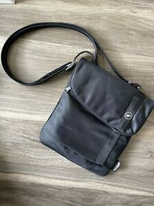 Pacsafe Black Crossbody Shoulder Bag RFID Safe FREE SHIP