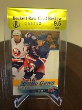 2016-17 Jimmy Vesey UD Young Guns Canvas Beckett 9.5 Raw Card Review