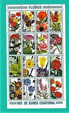 Briefmarken Republica De Guinea Ecuatorial Blumen Ungestempelt Sammler Afrika