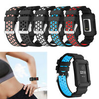 Waterproof For Fitbit Charge 3 Replacement Silicone Strap Wrist Band+ Frame
