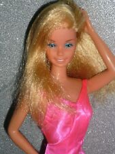 Vintage 1977 Superstar Barbie Doll & Original Dress ~ Taiwan